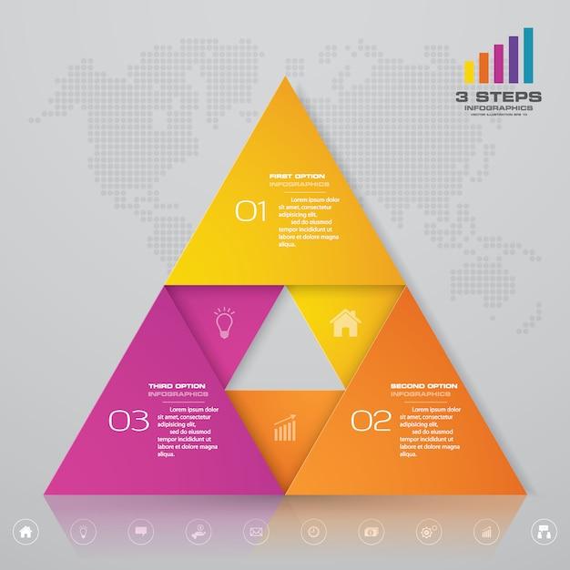 Präsentation diagramm infographik element. Premium Vektoren
