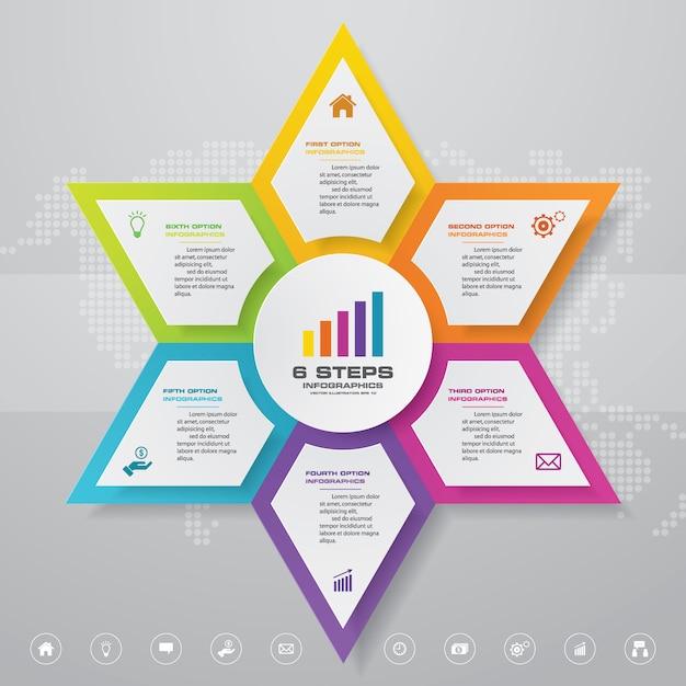 Präsentation diagramm infographik element Premium Vektoren