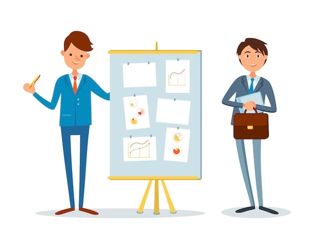 Präsentation finanzanalysebericht, business Premium Vektoren