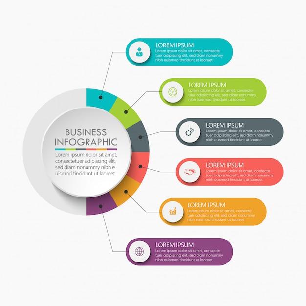 Präsentationsvorlage geschäft infographik. Premium Vektoren