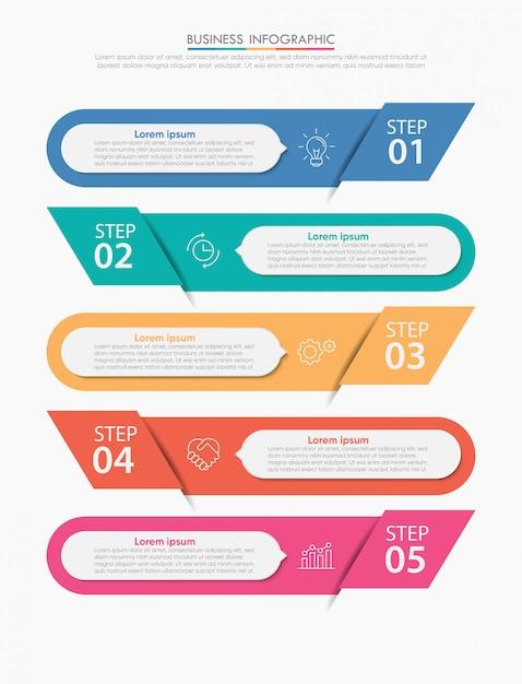Präsentationsvorlage geschäft infographik Premium Vektoren
