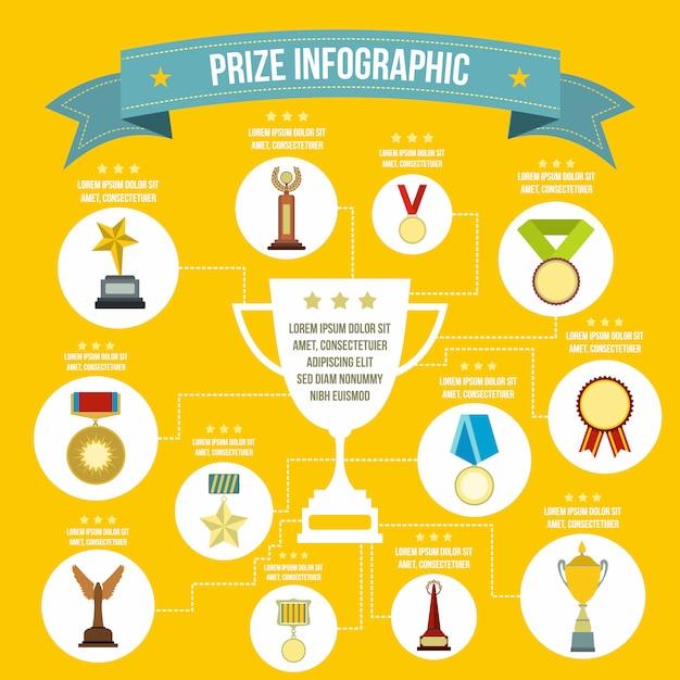 Preis infografik in flachen stil für jedes design Premium Vektoren