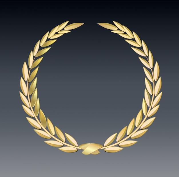 Preis lorbeer isoliert auf einem transparenten hintergrund. gewinner vorlage. symbol für sieg und leistung. Premium Vektoren