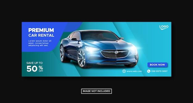 Premium-autovermietung banner vorlage Premium Vektoren