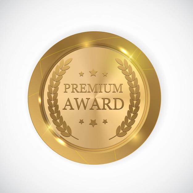 Premium award goldmedaille. Premium Vektoren