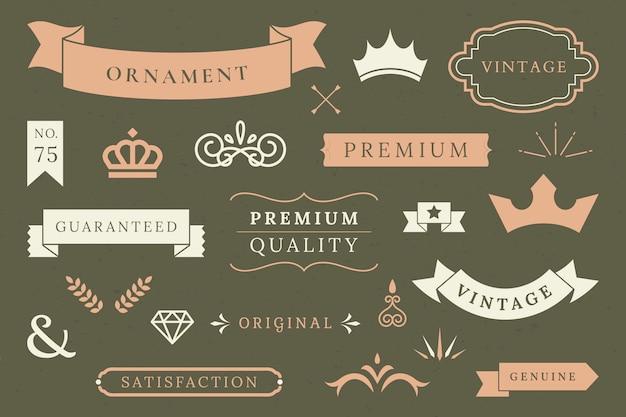 Premium-banner-kollektion Kostenlosen Vektoren