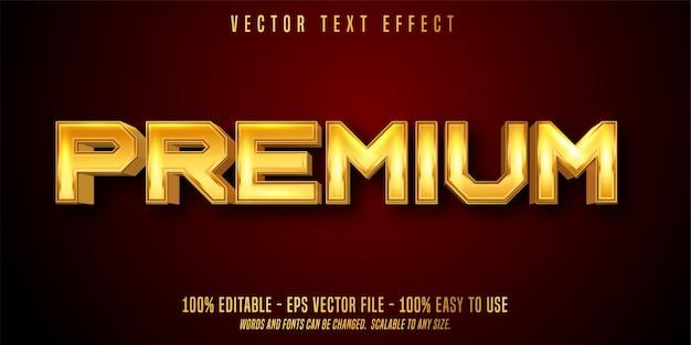 Premium bearbeitbarer texteffekt isoliert auf rot Premium Vektoren