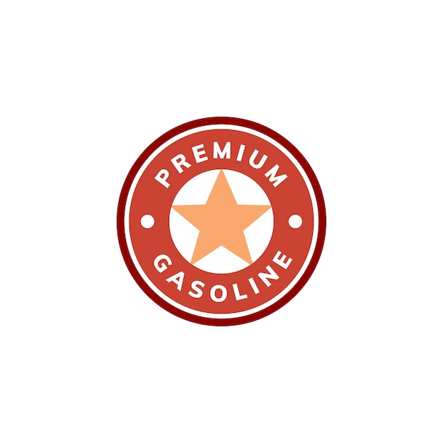 Premium-benzin-banner-symbol abbildung Kostenlosen Vektoren