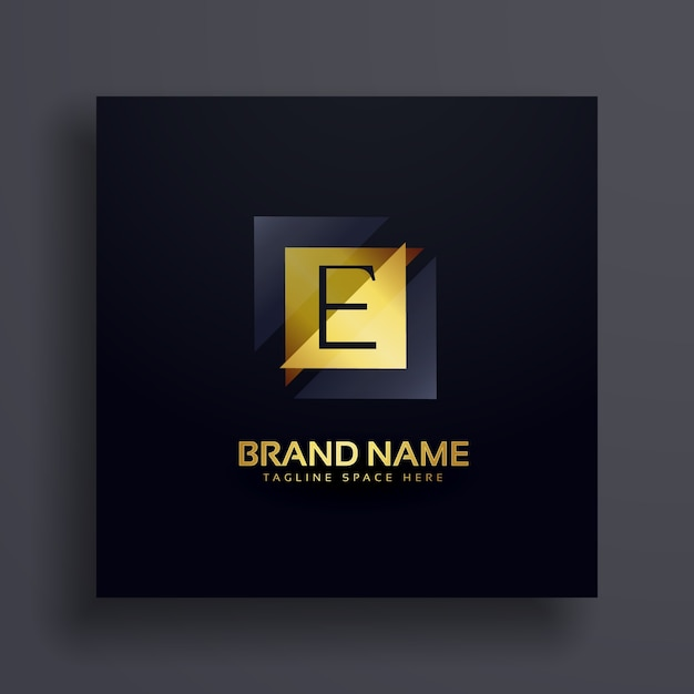 Premium-buchstabe e-konzept-logo-design Kostenlosen Vektoren