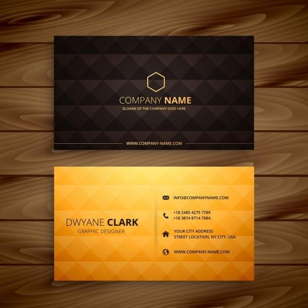 Premium-Diamantform golden Visitenkarte Kostenlose Vektoren