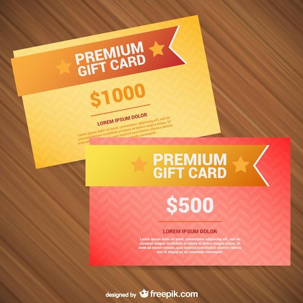 Premium-geschenk-karte-vorlagen Kostenlosen Vektoren