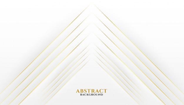 Premium goldene linien auf weißem hintergrund Kostenlosen Vektoren
