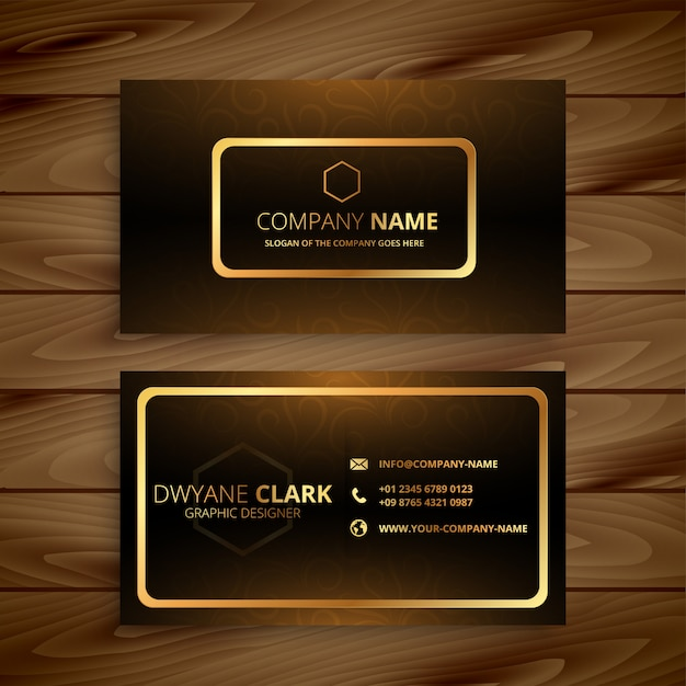 Premium goldene visitenkarte Kostenlosen Vektoren