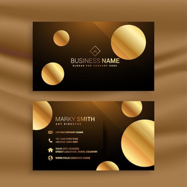Premium-goldenen kreis visitenkarte Kostenlosen Vektoren