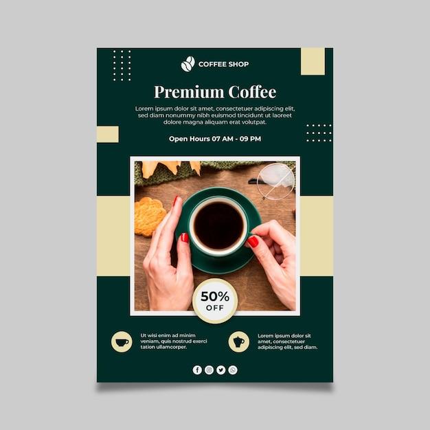 Premium kaffee poster vorlage Kostenlosen Vektoren