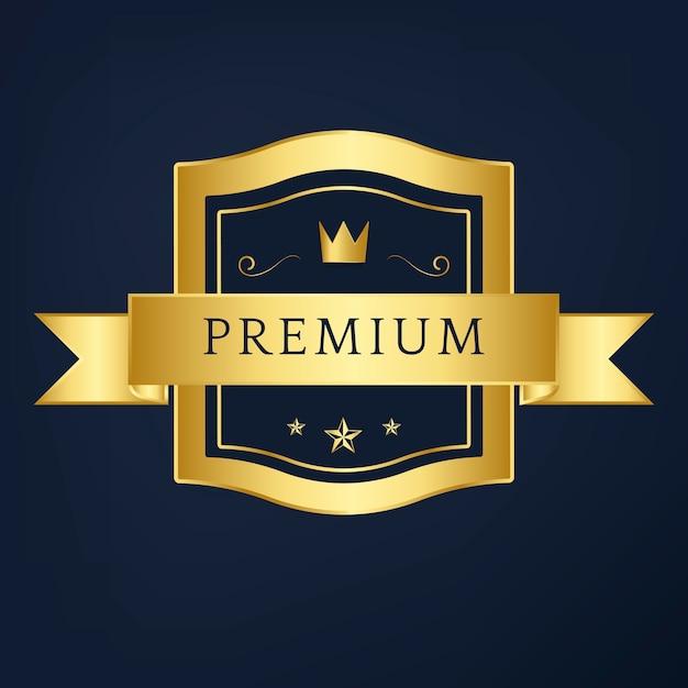 Premium-kollektion abzeichen design vektor Kostenlosen Vektoren