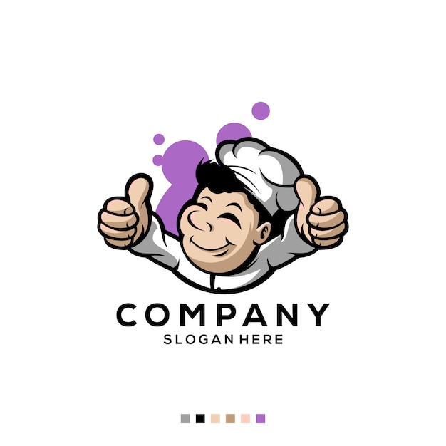 Premium logo chef kostenlose vektor Premium Vektoren