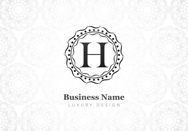 Premium luxus creative letter h logo für unternehmen Kostenlosen Vektoren
