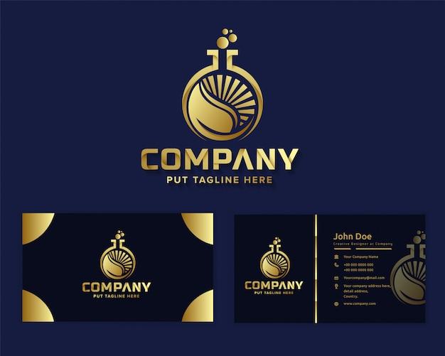 Premium luxus natur arbeit logo vorlage Premium Vektoren