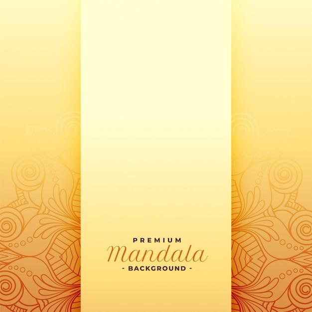 Premium mandala goldenes muster Kostenlosen Vektoren