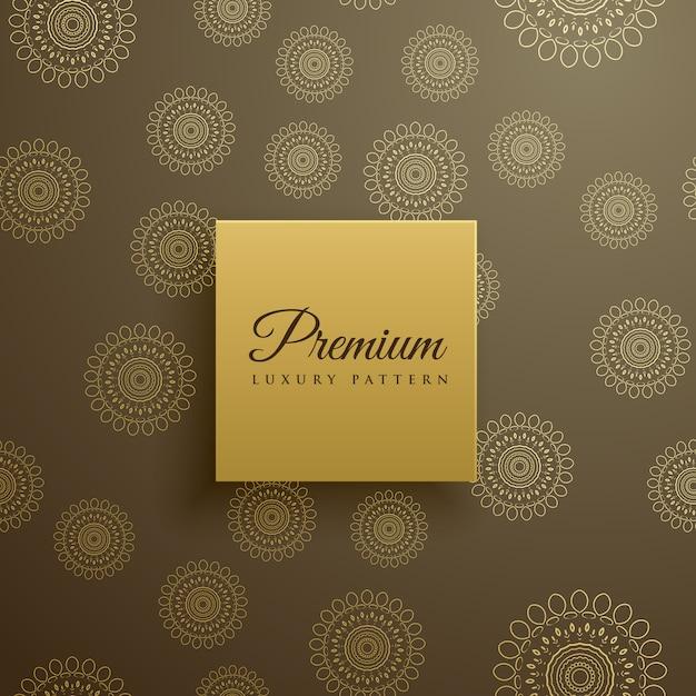 Premium-mandala-muster vektor hintergrund Kostenlosen Vektoren