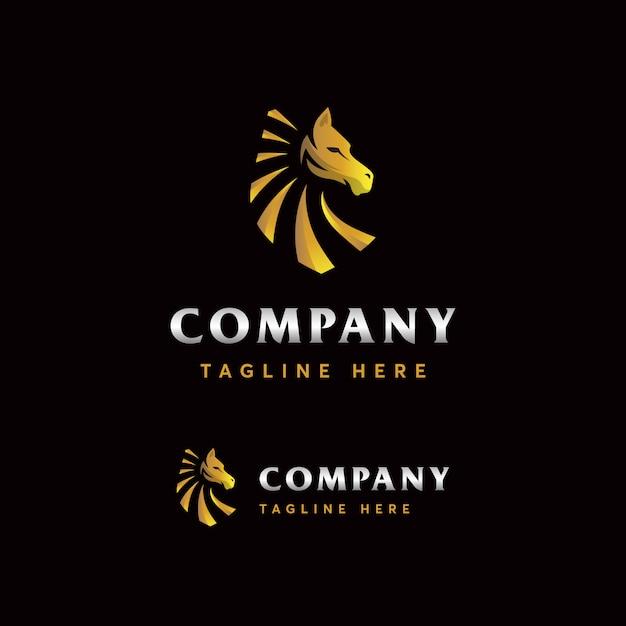 Premium pferd logo vorlage Premium Vektoren