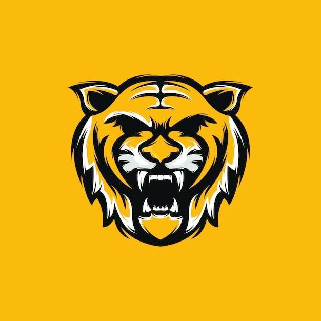 Premium tiger logo Premium Vektoren