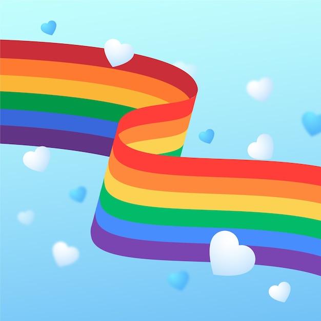 Pride day event mit flagge Kostenlosen Vektoren