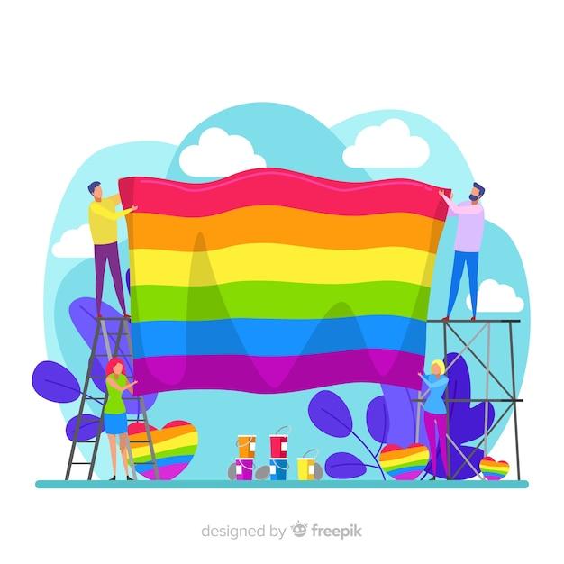Pride day fag Kostenlosen Vektoren