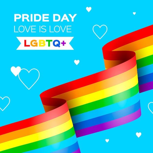 Pride day feier regenbogenfahne Kostenlosen Vektoren