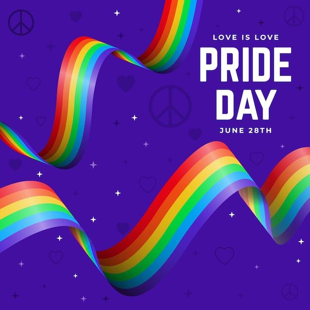 Pride day flag bänder Kostenlosen Vektoren