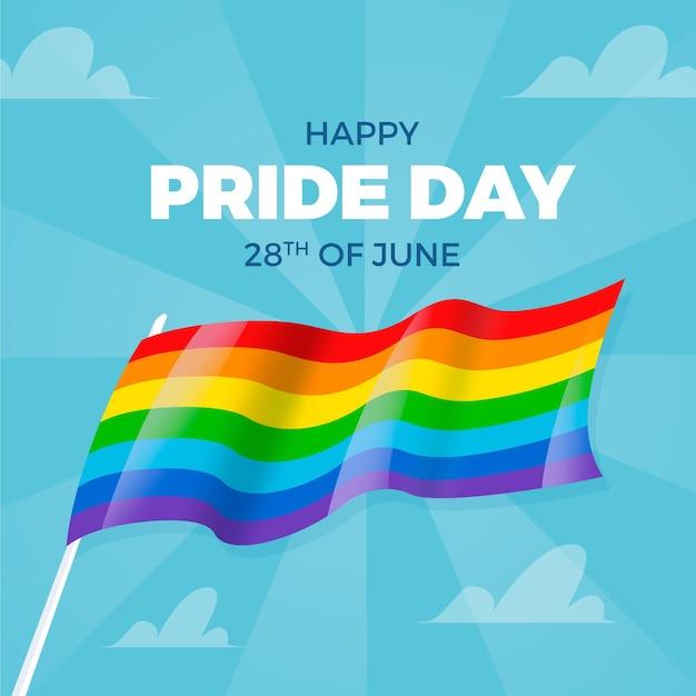 Pride day flag design Kostenlosen Vektoren