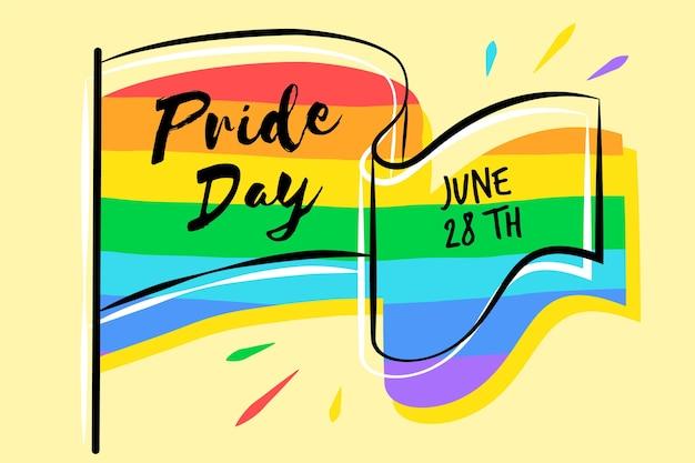 Pride day flag farben des regenbogens Kostenlosen Vektoren