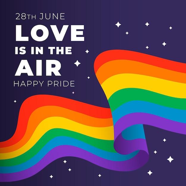 Pride day flag konzept Kostenlosen Vektoren