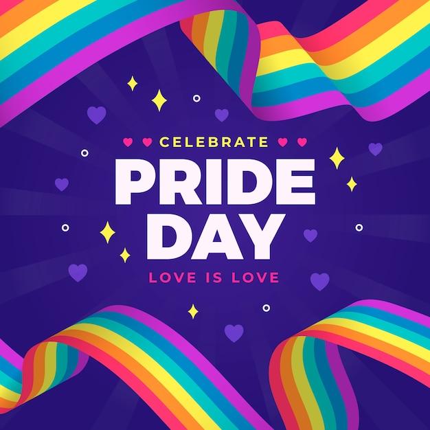 Pride day flag style Kostenlosen Vektoren
