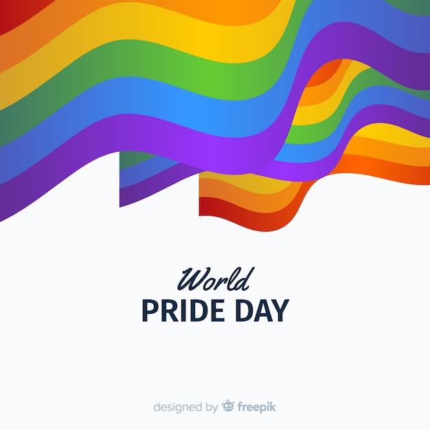 Pride day flagge Kostenlosen Vektoren