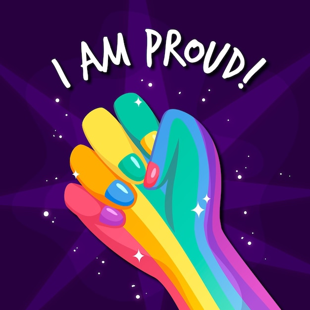 Pride day konzept Kostenlosen Vektoren