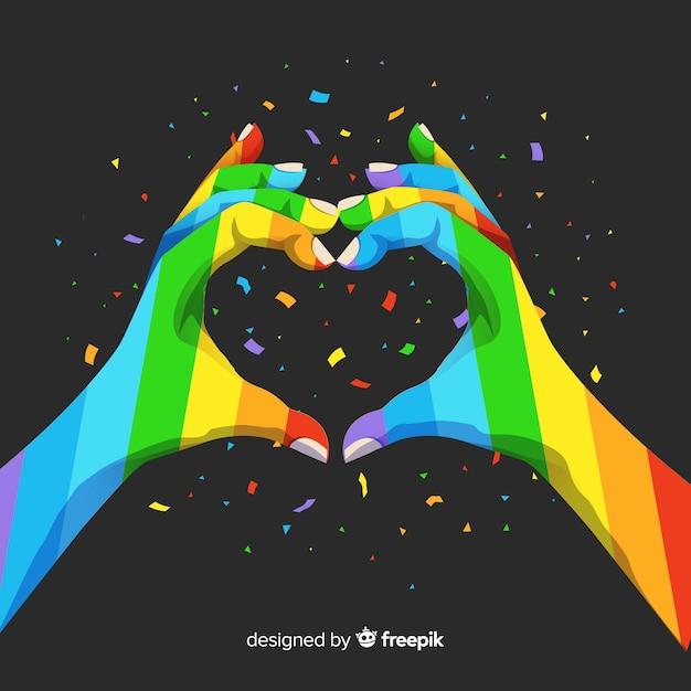 Pride day-konzept Kostenlosen Vektoren