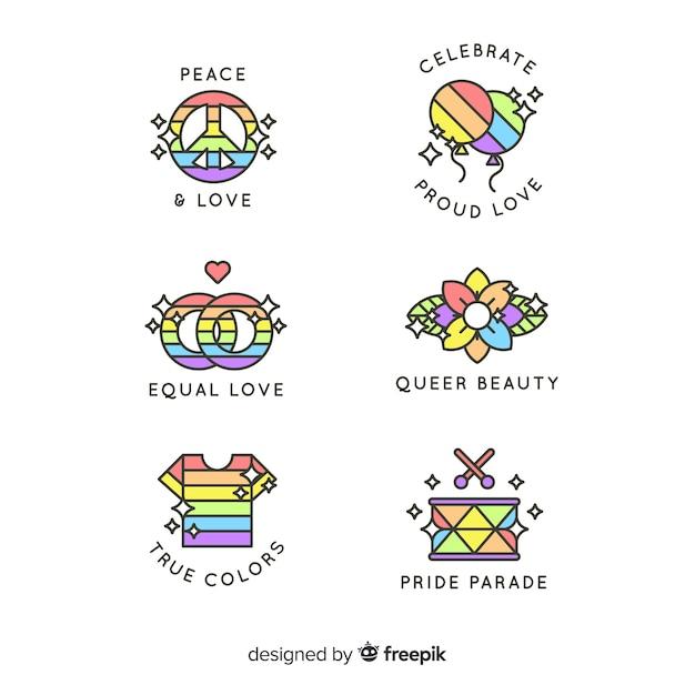 Pride day labels-auflistung Kostenlosen Vektoren