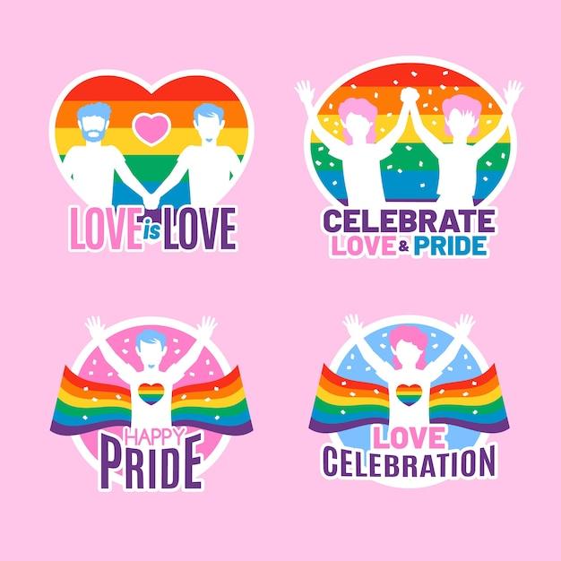 Pride day neonabzeichen Kostenlosen Vektoren
