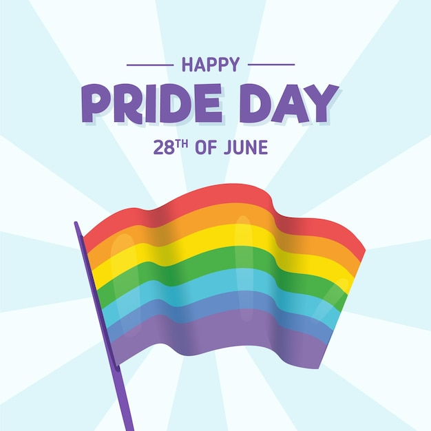 Pride day regenbogenfahne Kostenlosen Vektoren