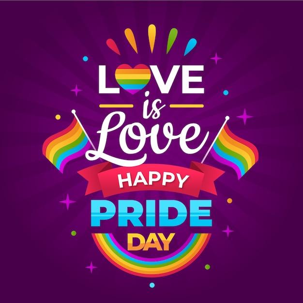 Pride day schriftstil Kostenlosen Vektoren