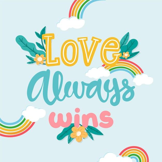 Pride day schriftzug konzept Kostenlosen Vektoren