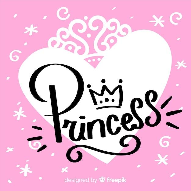 Prinzessin kalligraphischer hintergrund Kostenlosen Vektoren