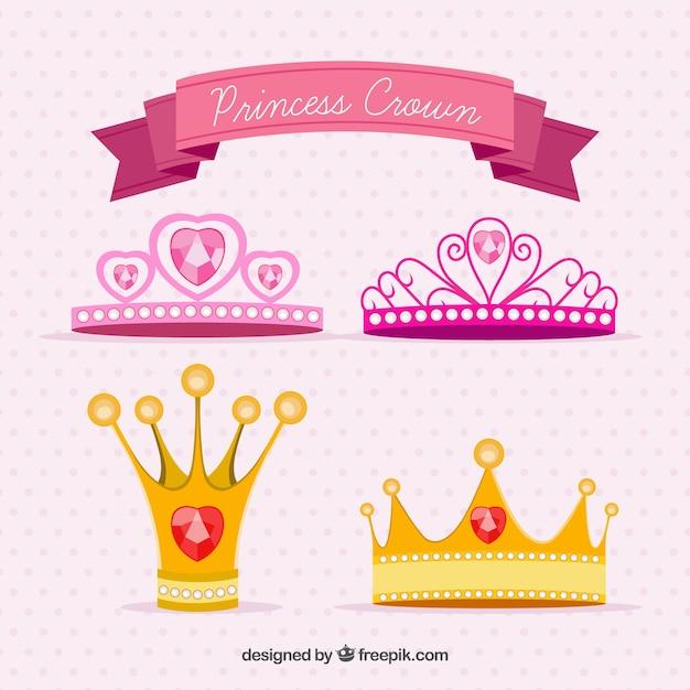 Prinzessin kronen Kostenlosen Vektoren