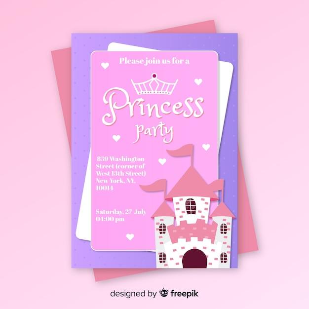 Prinzessin party einladung Kostenlosen Vektoren