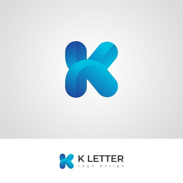 Pro k-buchstabe logo design Premium Vektoren