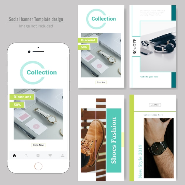 Produkt Verkauf Social Media Post-Vorlage Premium Vektoren