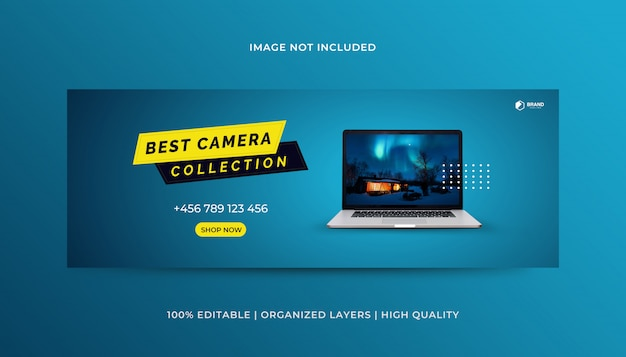 Produkte facebook cover design vorlage Premium Vektoren