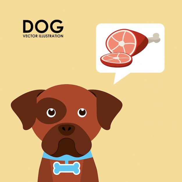 Produkte für hunde Premium Vektoren